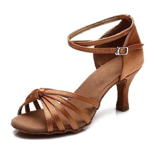 Chaussures de danse,Chaussures de danse de 5CM et 7CM pour filles, chaussures de danse latine pour soirée au Tango et salsa, neuve