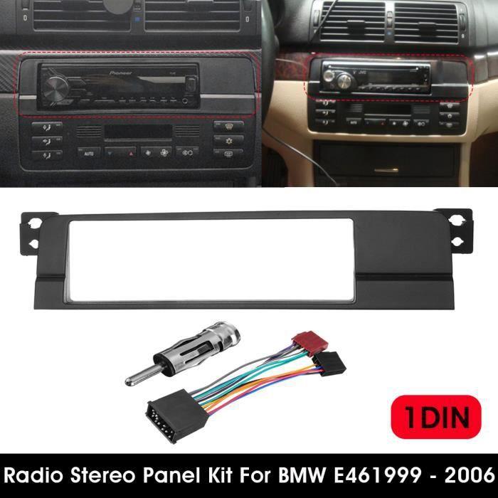 1-DIN Cadre Panneau de Plaque d'adaptation Radio Stéréo Pour BMW E46 99-06