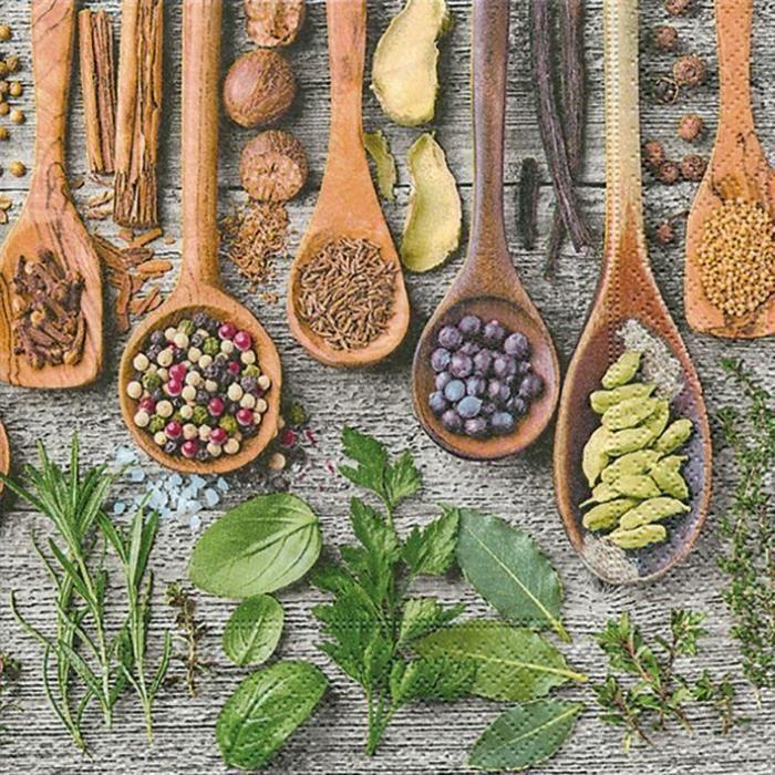 PAPER DESIGN - 20 Serviettes 33x33 cm - Spices & herbes