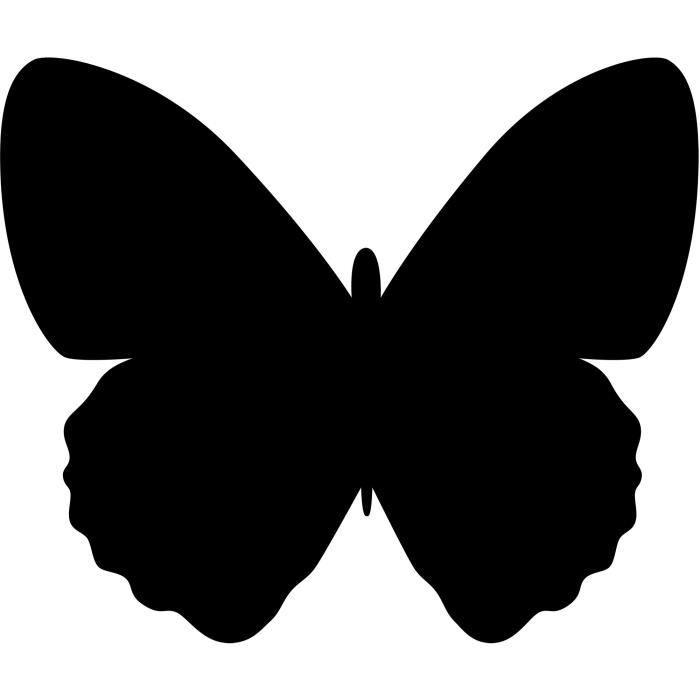 Silhouette papillon ardoise - Feutre-craie inclus et kit velcro pour accrochage mural - 30x50cm