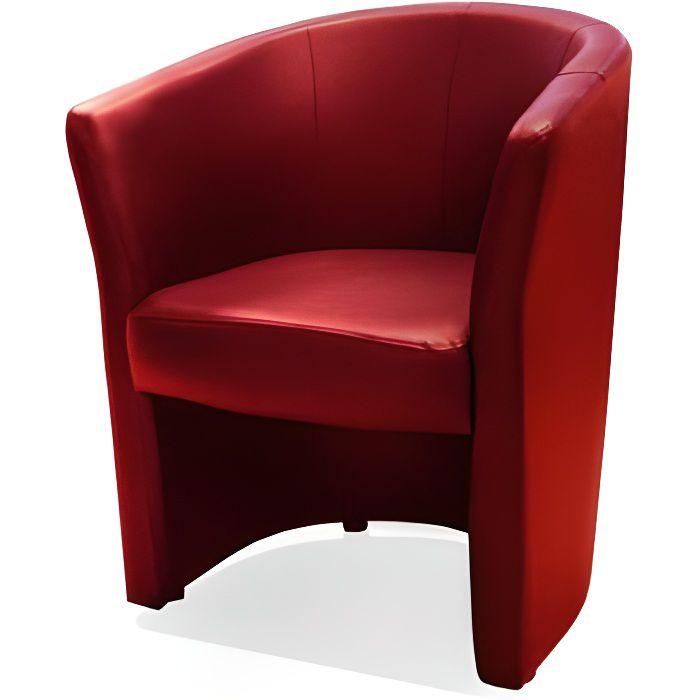 Fauteuil cabriolet pvc rouge belize
