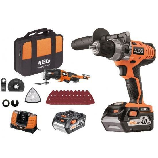 Pack Perceuse visseuse à percussion 18V avec multitool aeg powertools