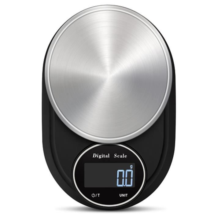 LCD digital 5 kg Balance Compacte électronique pour cuisine alimentaire pesant