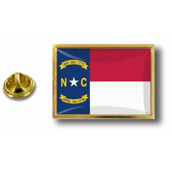 Akacha pins pin Badge pins Metal Drapeau Etats USA Caroline du Nord