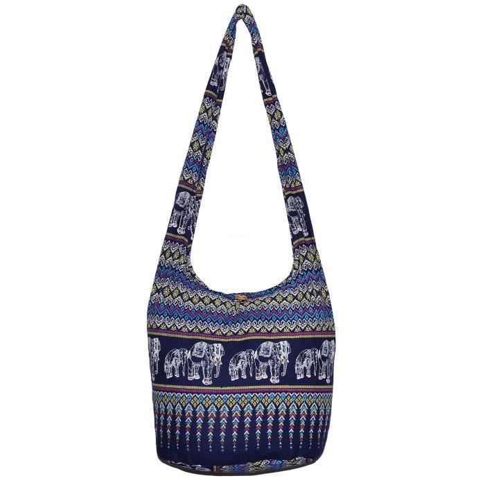 Elephant Classics coloré Hippie épaule Bohême Hobo Boho Cross Body Bag OS5DB