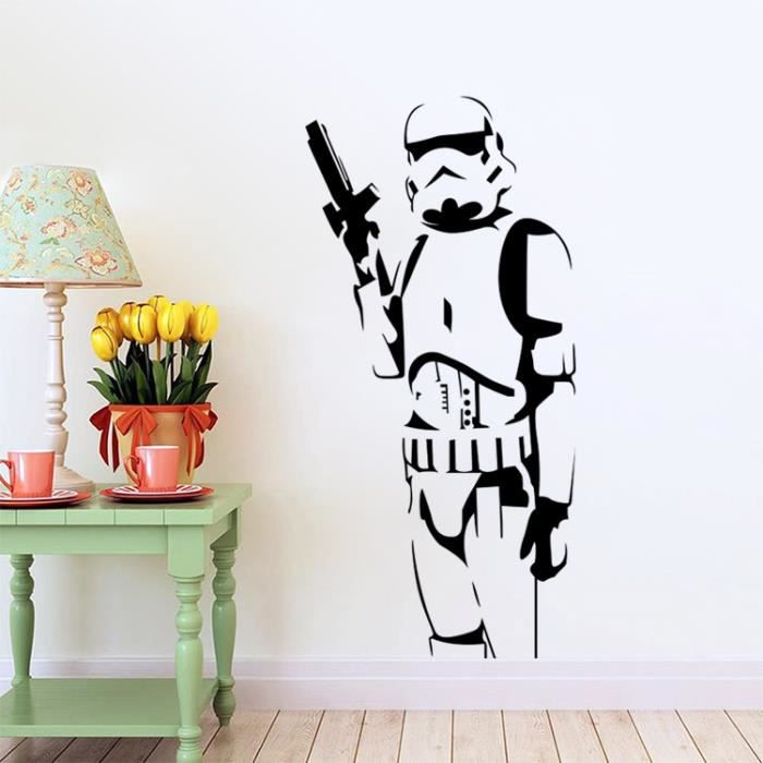 stars wars stickers muraux achat vente pas cher. Black Bedroom Furniture Sets. Home Design Ideas