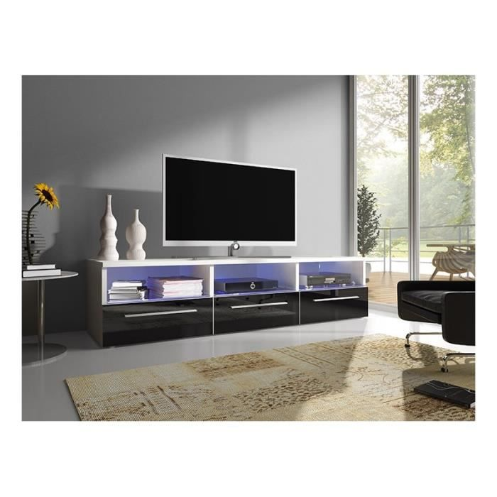 meuble tv bas design avec led achat vente meuble tv. Black Bedroom Furniture Sets. Home Design Ideas