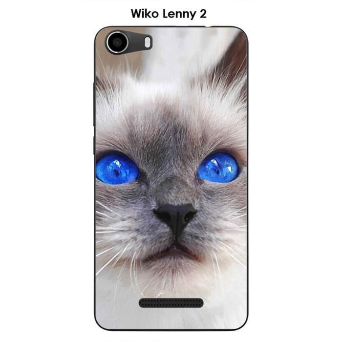 Coque Wiko Lenny 2 design Chat siamois aux yeux bleus - Cdiscount ...