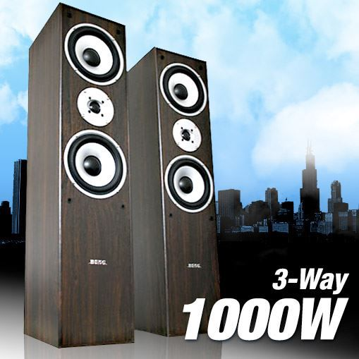 2 enceintes 1000w 3 voies hifi colonnes audio hp. Black Bedroom Furniture Sets. Home Design Ideas