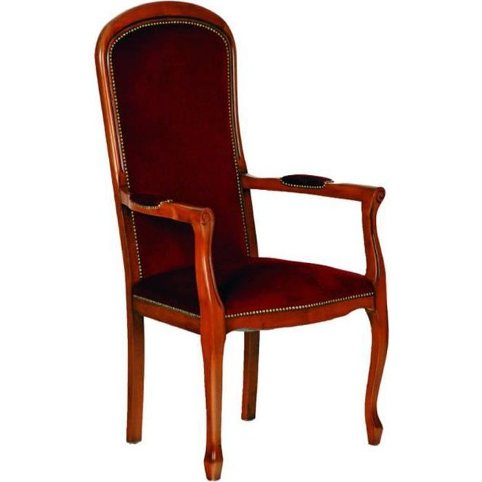 fauteuil voltaire assise haute velours bordeaux achat vente fauteuil velours h tre massif. Black Bedroom Furniture Sets. Home Design Ideas