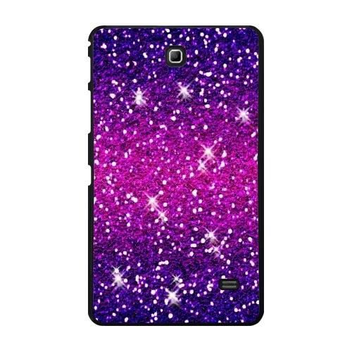 coque pour samsung galaxy tab 4 7 pouces paillettes scintille rose violet prix pas cher. Black Bedroom Furniture Sets. Home Design Ideas