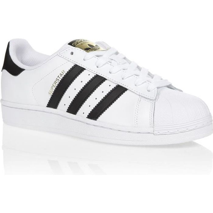 47579bdce48 ADIDAS ORIGINALS Basket Superstar Mixte- Cuir - Blanc et noir ...