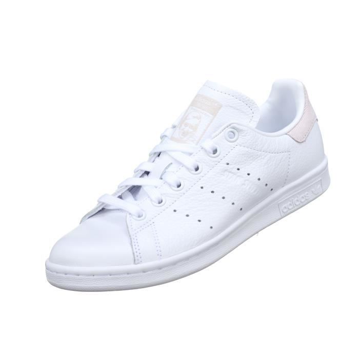 2d43e926aba ... new arrivals basket femme adidas stan smith w b41625 blanc rose 8e985  6657a