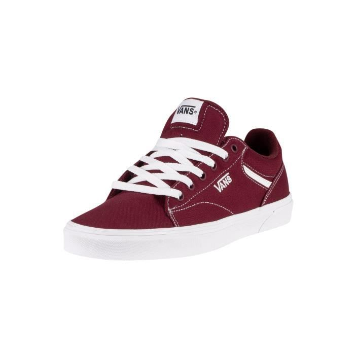 chaussures homme vans rouge