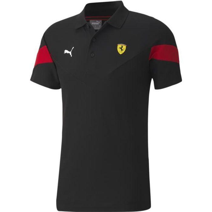 taille-grand Ferrari rouge à manches longues polo haut