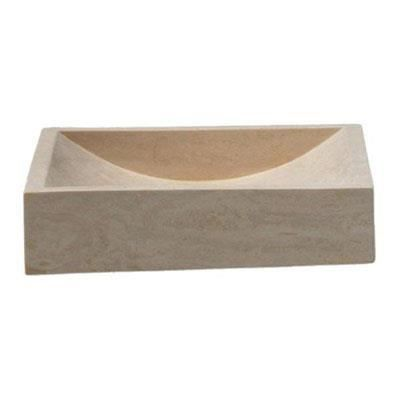 Uc 3005 lavabo travertin naturel poli poser ondyna achat vente lavabo vasque uc 3005 for Vasque a poser travertin
