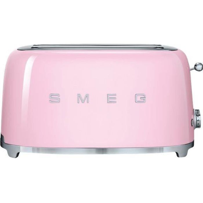grille pain 4 fentes smeg tsf02pkeu rose achat vente grille pain toaster cdiscount. Black Bedroom Furniture Sets. Home Design Ideas
