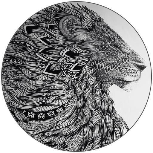 Dessous De Verre Rond Lion Aztec Tatoo Dessin De Profil