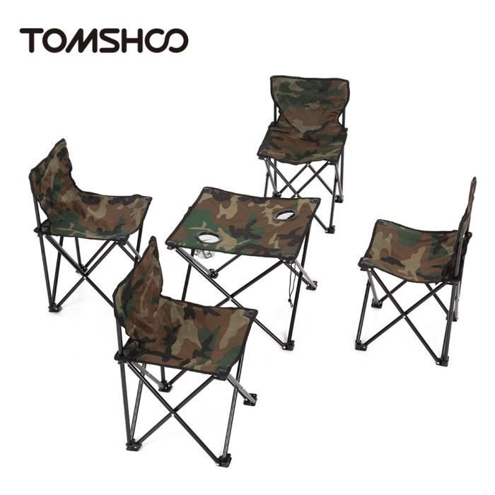 5pcs table pliante et chaise portable de camping pique. Black Bedroom Furniture Sets. Home Design Ideas