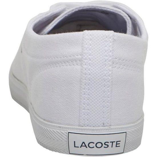 Baskets Femme Lacoste en Toile RBC Blanches Blanc - Achat / Vente
