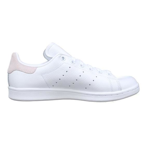 more photos 15cd3 3650c Basket femme Adidas Stan Smith W B41625 Blanc Rose Blanc Blanc - Achat    Vente basket - Cdiscount