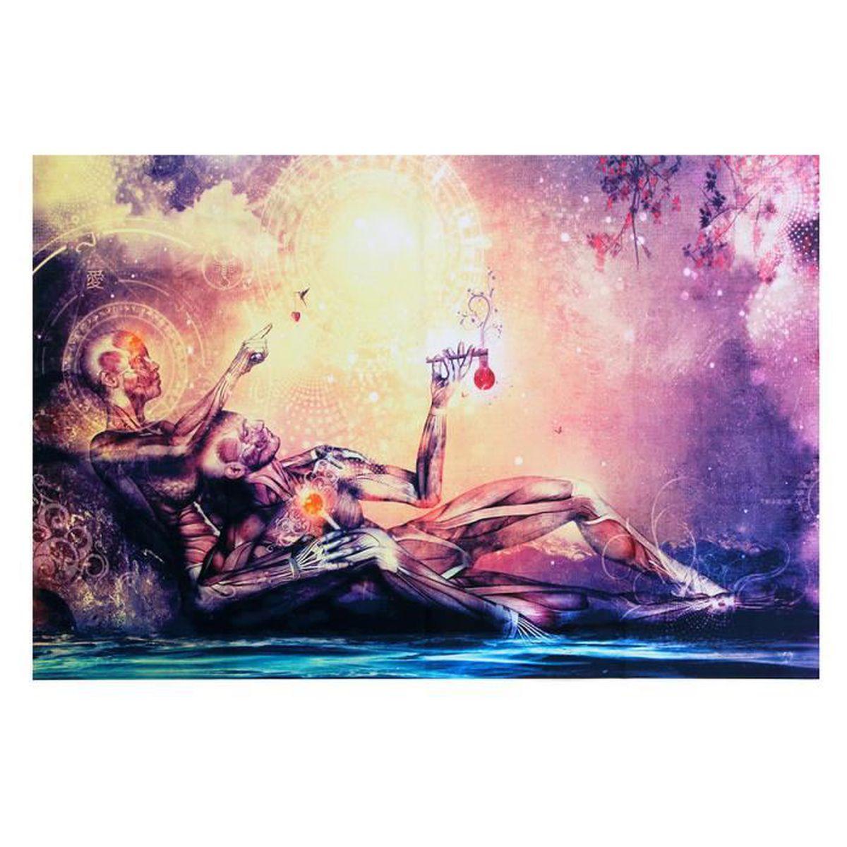 Décoration D Intérieur Peinture Murale 90x60cm tableau peinture abstrait huile sur toile moderne