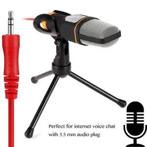 HAUT-PARLEUR - MICRO Microphone pour PC, 3.5mm Jack Condenser Recording