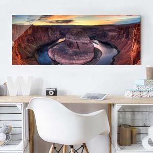 CADRE PHOTO 40x100 cm verre image - colorado river glen canyon