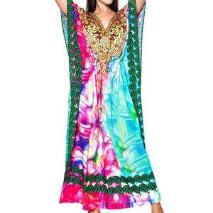 ROBE La Leela likre douce feuille digitale robe d'été l