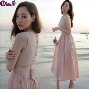 ROBE Robe de plage mode coréenne de femmes sans manches
