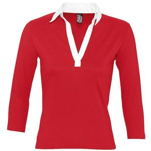 POLO Polo rugby manches longues FEMME - 11329 - rouge