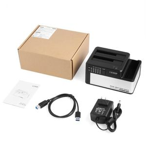 HOUSSE DISQUE DUR EXT. US Prise Dual Bays HDD Docking Station USB 3.0 to