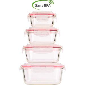 BOITES DE CONSERVATION Boîtes de conservation en verre avec couvercles à