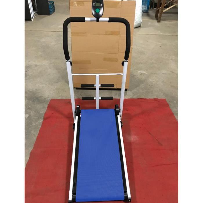 BLEU Tapis de Marche Tapis Roulant Mécanique avec des Sit-ups pour la Maison ou Le Bureau