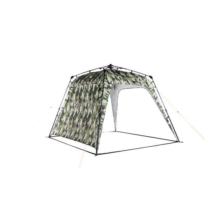 Lumaland x Where Tomorrow Tonnelle de Jardin – 1 Panneau Lateral Inclus - Haute Tente Robuste – Vert Camouflage