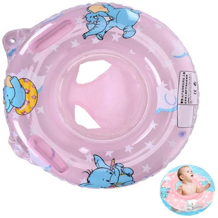 anneau de natation pour bebe,bébé siège de piscine anneau de natation gonflable anneau de natation flottante (rose anneau de natatio