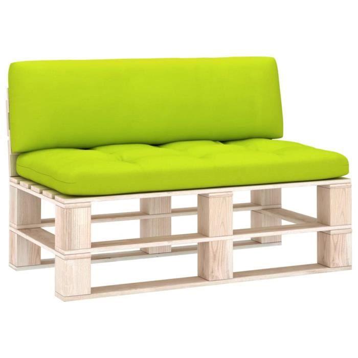 Bonne qualité - Lot de 2 Coussin de canapé palette - Coussin de banc Coussin D'extérieur Coussin de Chaise Vert vif @2284 :