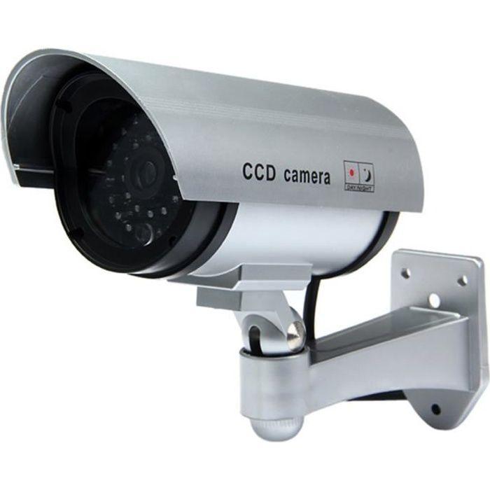 Caméra CCD multifonctionnel Dummy CCTV IR avec LED rouge Voyant clignotant pour la surveillance intérieure - extérieure