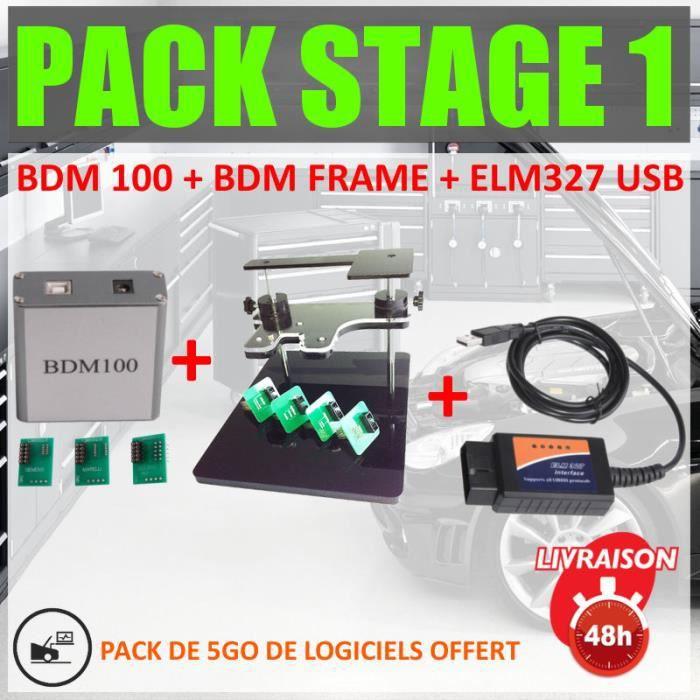 PACK REPROGRAMMATION AUTOMOBILE - CALCULATEUR - INTERFACES BDM 100 - BDM FRAME - ELM 327 USB