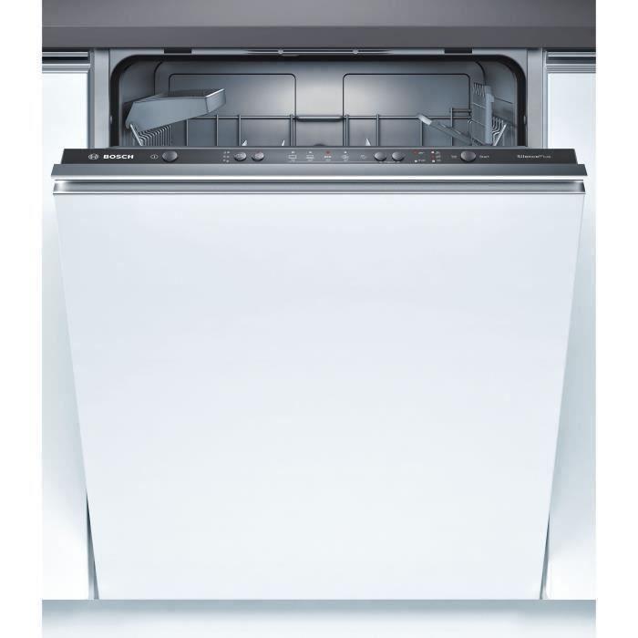 Lave-vaisselle encastrable BOSCH SMV50E60EU - 12 couverts - Moteur induction - Largeur 60 cm - 48 dB - Noir