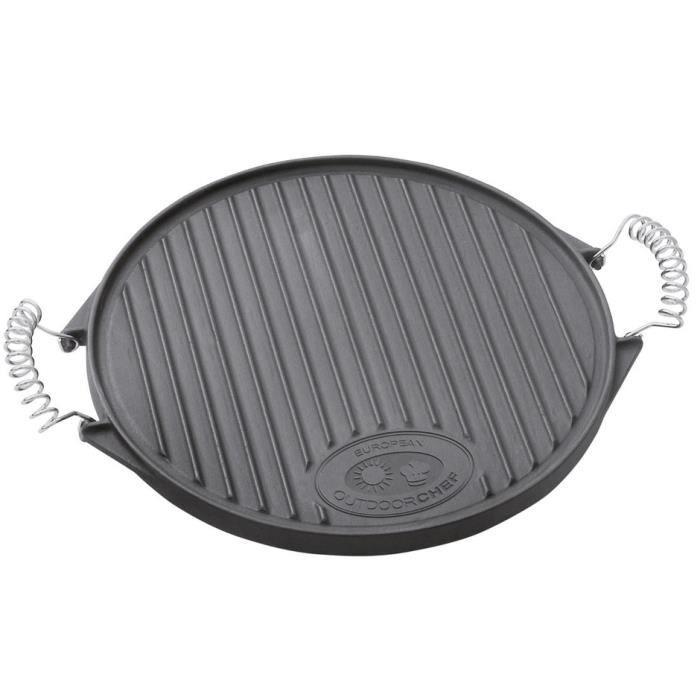 Accessoire barbecue Plancha en fonte, taille S