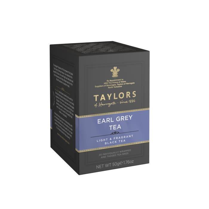 TAYLORS Thé Noir Earl Grey - 20 sachets - 50 g