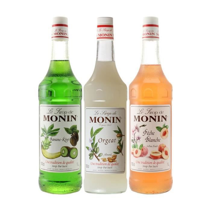 Assortiment Monin Parfums Irrésistibles (pack 3x1L)