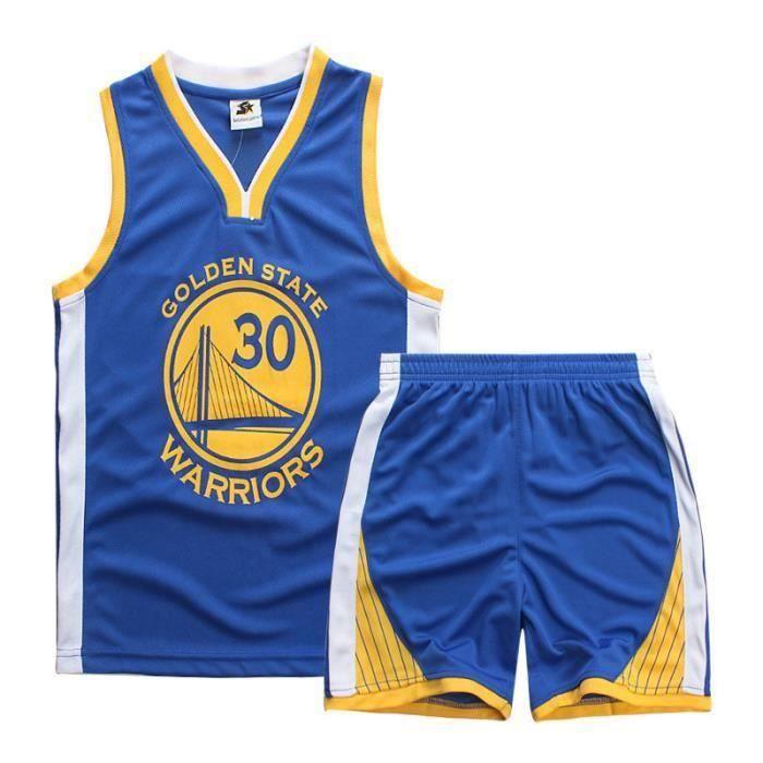 Maillot et Shorts de basketball CURRY Warriors GSW- Enfant garçon - Bleu