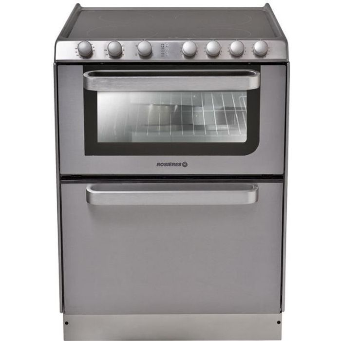 HOOVER Rosieres Trv60In / U Cuisinieres Vitroceramique - 60X60 - Email Lisse - Gris