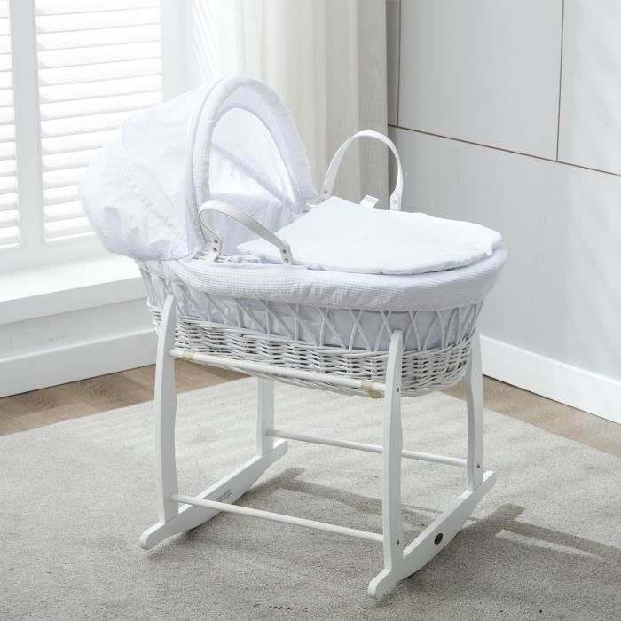Photo de mcc-ensemble-couffin-en-osier-blanc-avec-matelas-habillage-couleur-blanche
