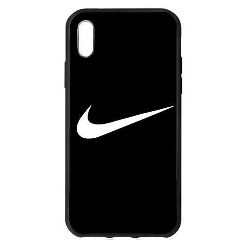 coque iphone x max nike noir logo