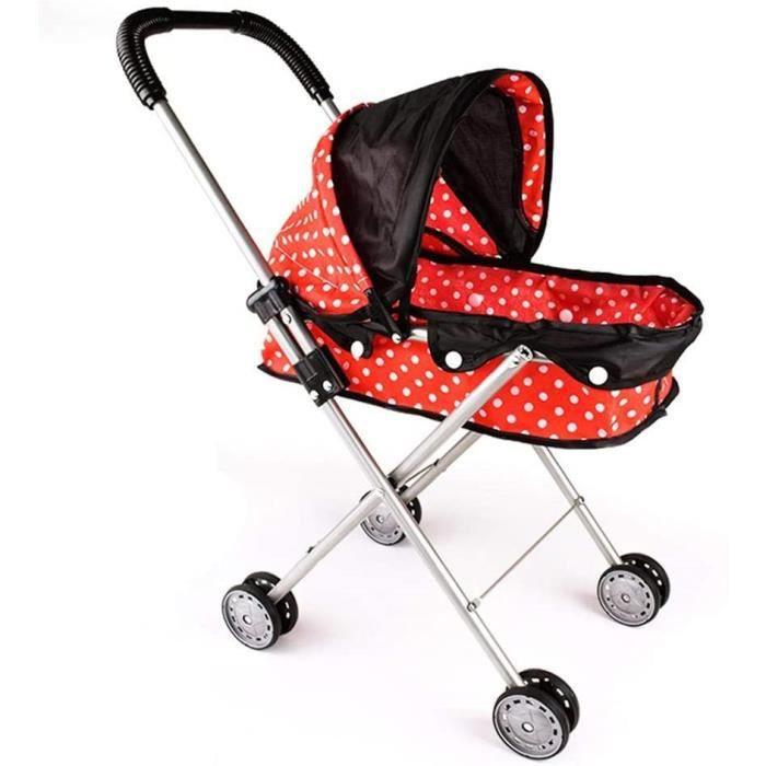 Baby doll toy Transporteur Poussette landau avec capuche de stockage panier cadeau pour fille enfants