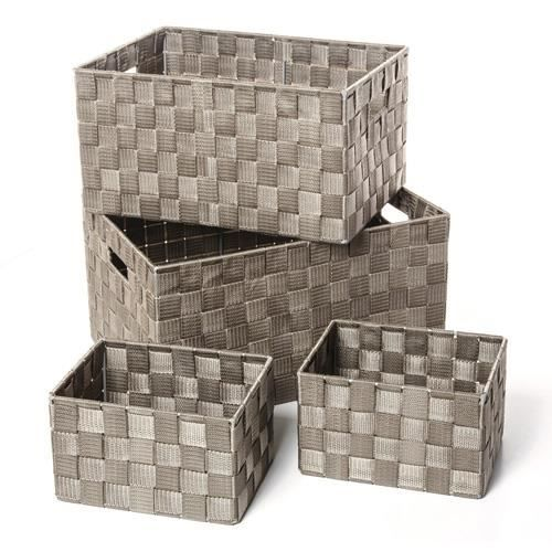 panier de rangement taupe achat vente panier de. Black Bedroom Furniture Sets. Home Design Ideas