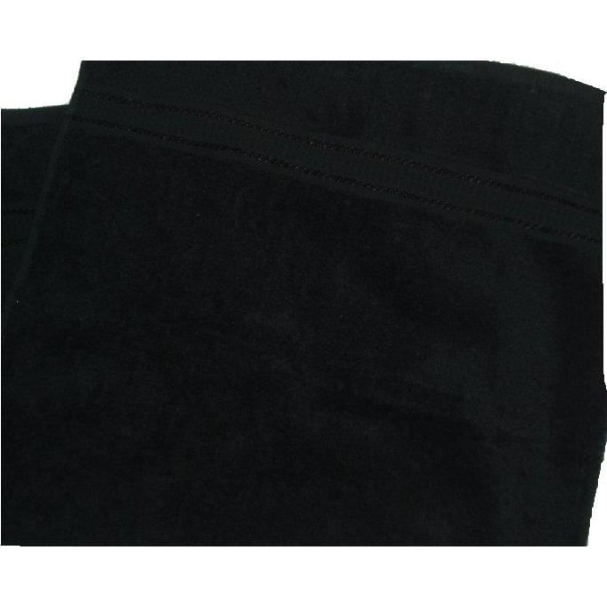 lot de 2 serviettes 1 drap de bain noir achat vente. Black Bedroom Furniture Sets. Home Design Ideas
